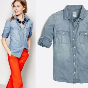 J. Crew Perfect Fit Classic Chambray Shirt HW7178